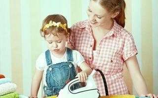 Утюг опасный прибор в детских руках, чем помочь ребенку